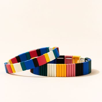 Candy Crush Colorblock Bracelets (set of 2)