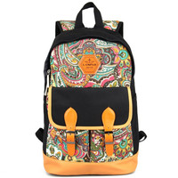 Women's Ethnic School Backpack Travel Bag Bookbag Daypack