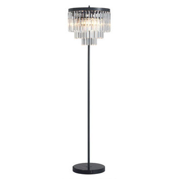 Avondale Floor Lamp Anqitue Black Gold