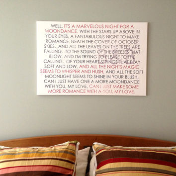 Personalized and Unique Love Story or Lyrics for him or her Custom Quotes Scripture 30X40  inches