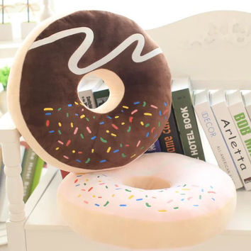 2016 Emoji Cojines Hot Sale Rushed Cusion Adults Coussin Decoration Pillows Donut Big Thickening Cushion Siesta With pp cotton