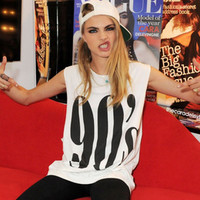 BIG 90s cara delevigne funny t shirt fashion slogan unisex women men workout clothing yoga text from DOES IT EVEN MATTER