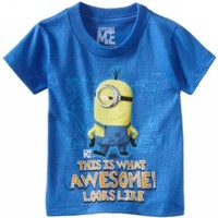 Despicable Me Little Boys' Awesome Shirt, Royal Blue, 2T