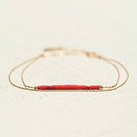 Marida Jewelry Womens Duo Strand and Bead Bracelet - Red, One