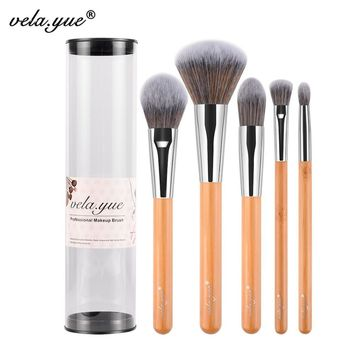 vela.yue Makeup Brush Set  Premium Face Eyes Brush Collections eco-friendly bamboo Beauty Tools