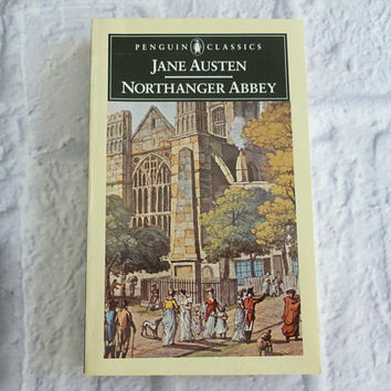 Vintage Book Northanger Abbey by Jane Austen 1987 Edition, Paperback, Penguin Classics, Historical Fiction, Romance Fiction