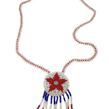 Star Pendant Daisy Chain Necklace