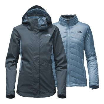 The North Face Women's Mossbud Swirl Triclimate Jacket - Ink Blue/Provincial Blue - M