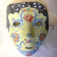 Ancient Doll one of the kind handpainted mask