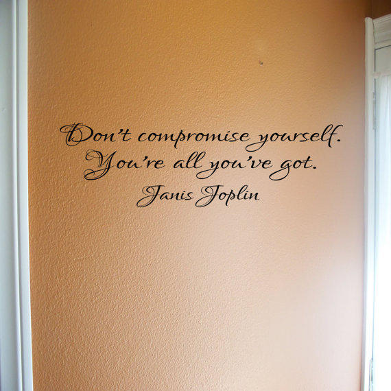 Janis Joplin  removable wall quote  Don't by daydreamerdesign