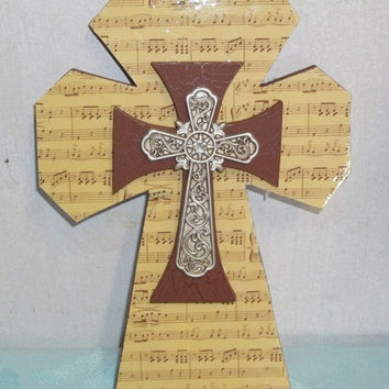 SALE20%OFF Music Themed Cross