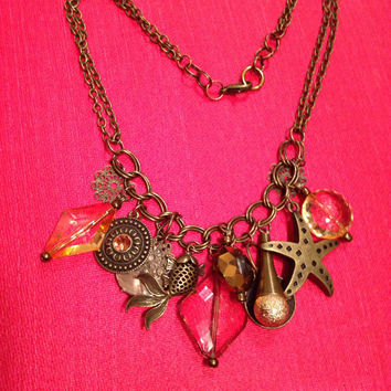 Nautical necklace // beach jewelry // found object necklace // steampunk necklace