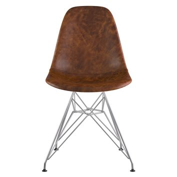 Mid Century Eiffel Side Chair  Weathered Whiskey