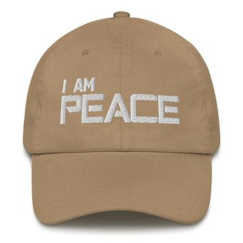 """""""I AM PEACE"""" Positive Motivational & Inspiring Quoted Embroidery Classic Dad hat"""