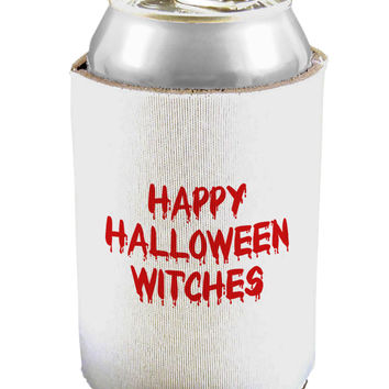 Happy Halloween Witches Blood Red Can / Bottle Insulator Coolers