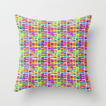 Rainbow 14 Throw Pillow by Zia