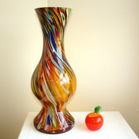 glass vase hand blown glass vases made in Poland Makora multicolor weddings handmade glass vases