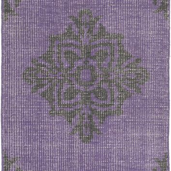 Surya Zahra ZHA4023 Purple/Black Medallion and Damask Area Rug