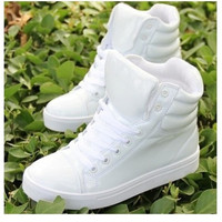 New spring shoes, high-top canvas shoes lovers, casual shoes within the higher student [7688415878]