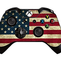GameXcel ® Xbox One Leather Texture Controller Skin - Custom Xbox 1 Remote Controller Vinyl Sticker - Modded Xbox One Accessories Cover Decal - Battle Torn Stripes [ Controller Not Included ]