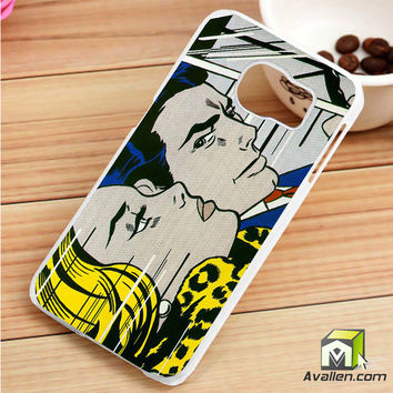 Roy Lichtenstein - comics print Samsung Galaxy S6 Edge case by Avallen