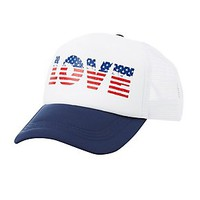 AMERICA LOVE TRUCKER HAT