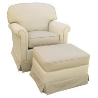 Angel Song Aspen Continental Adult Rocker Glider in Monaco Vanilla