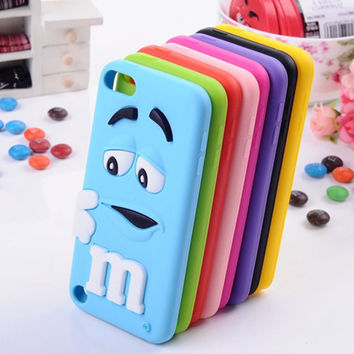 Luxury perfume chocolate bean design candy rubber soft silicone 3d cartoon cell phone case covers for apple ipod touch 5 5th