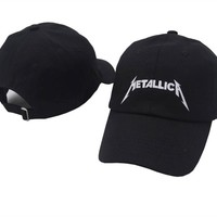 TUNICA band Metallica European and American Rock Music Baseball Cap Adjustable High Quality Dad Hats Men Women Street Snapback