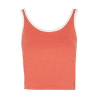 Contrast Cropped Vest - Red