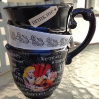 DISNEY PARKS EXCLUSIVE : Alice in Wonderland Quotes 12oz Ceramic Cup