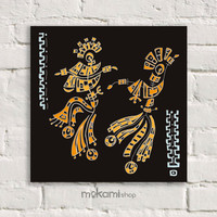 "Canvas print Ready to hang DANCERS, Art Wall Decor, Bedroom Painting, Home Decor Wall, Art Home & Living Room 7.8""x7.8"""