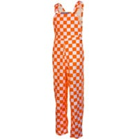 Game Bibs Tennessee Volunteers Checkered Overalls - Tennessee Orange/White