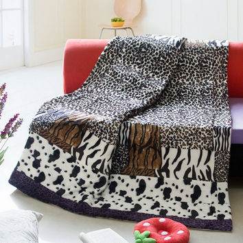 Amazon Jungle Patchwork Throw