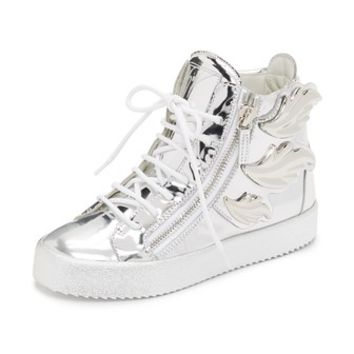 Leather Wing Sneakers