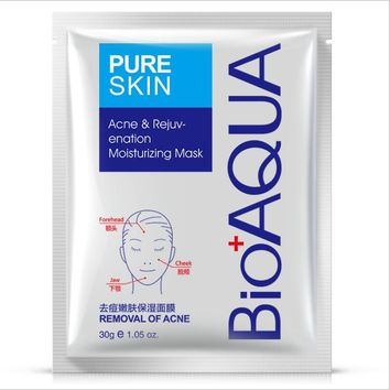 BIOAQUA Acne Removal Facial Mask Moisturizing Face Mask Nourishing Whitening Repair Sunburn Oil Control Skin Care 30g