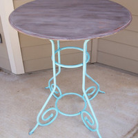 Blue Tall Bistro Table