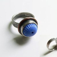 Sterling silver ring, silver ring size 7.5 , unique silver ring, contemporary ring, handmade silver ring, gifts for her