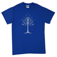 Lord of the Rings Tree of Gondor Bleached T-shirt
