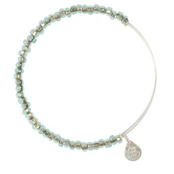 Alex and Ani Ocean Mist Shimmering Sea Bead Bangle - Shiny Silver