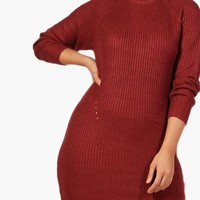 Plus Hannah Longline Jumper Dress | Boohoo