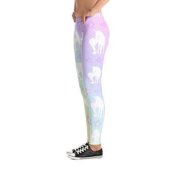 Unicorn Rainbow Pattern Leggings