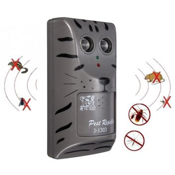 Rechargeable Household Double Head Electronic Ultrasonic Pest Control Repeller Low Lower Pest Mouse Insect Rodent Repeller Tool