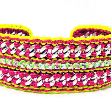 Summer Breeze Neon Pink and Yellow Designer by GetShackled