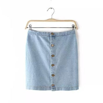Stylish High Rise Denim Women's Fashion Skirt [5013422212]