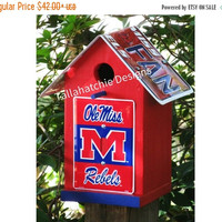 30% OFF Today Ole Miss Birdhouse,Ole Miss Decor,Ole Miss Yard Decor,Ole Miss Products,Ole Miss Merchandise