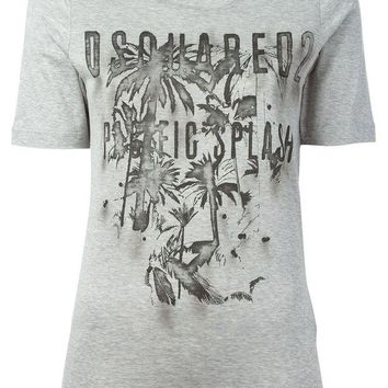 DCCKIN3 DSQUARED2 palm tree printed T-shirt