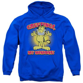 Garfield - Minions Adult Pull Over Hoodie