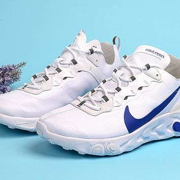 HCXX 19Aug 125 Nike React Element 55 Game Royal BQ6167-100 Casual Sports Running Shoes
