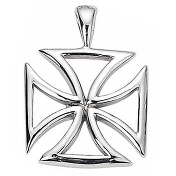 Stainless Steel Pendant Maltese Cross design